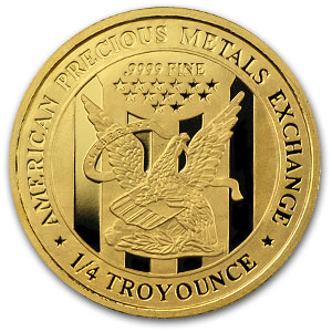 A 1/4 oz Gold Round